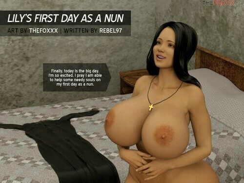 The Foxxx - Lily first day as a nun