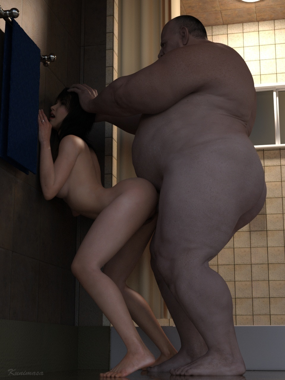 Kunimasa ? In The Shower Room