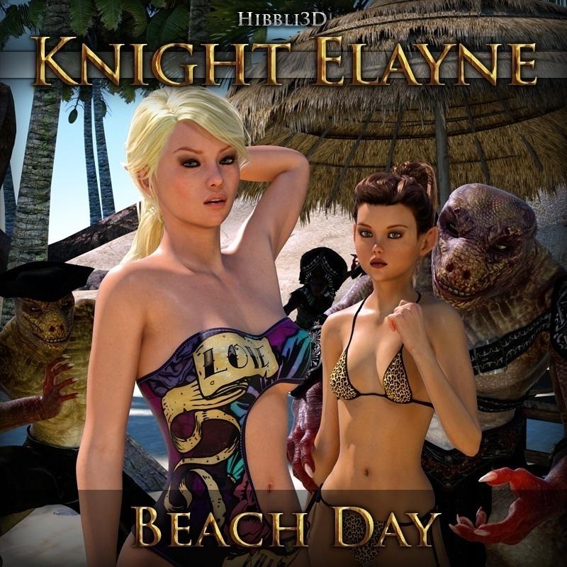 Hibbli3D - Knight Elayne - Beach Day Part 1