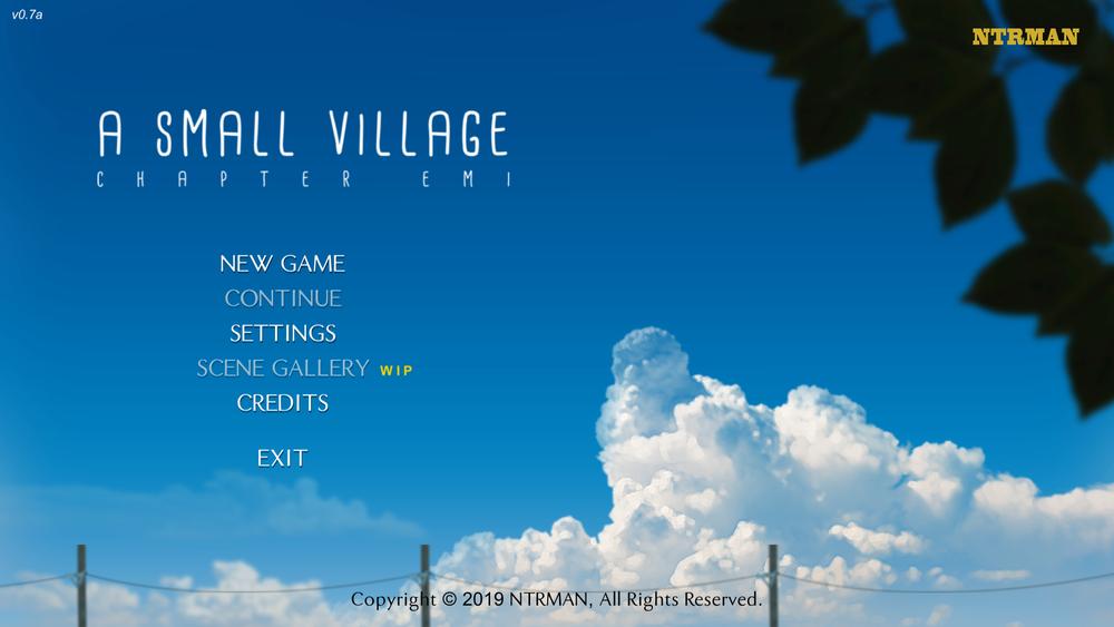 A Small Village – Version 0.7a